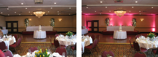 Pittsburgh event lighting before and after
